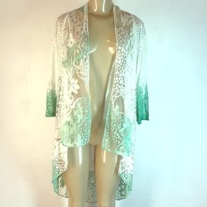 Vintage Concept Embroidered Cover Up Top White M